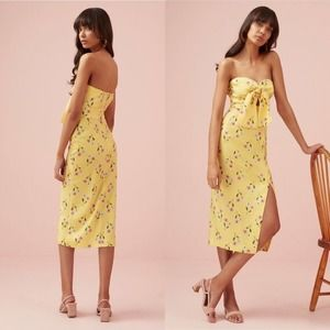 Finders Keepers Limoncello Midi Floral Dress L NWT